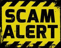 Segno di allarme di Scam royalty illustrazione gratis