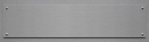 Segno di alluminio in bianco - illustrazione 3D Fotografia Stock
