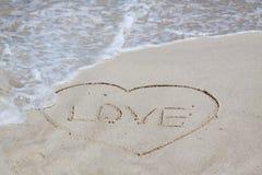 Segno di amore Immagini Stock Libere da Diritti