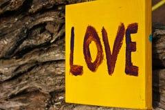 Segno di amore Fotografia Stock Libera da Diritti