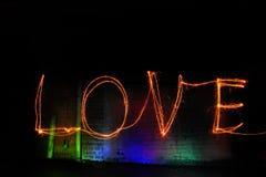 Segno di amore Fotografie Stock