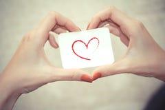 Segno di amore Immagine Stock