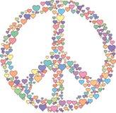 Segno di amore di pace Fotografia Stock Libera da Diritti