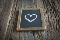 Segno di amore sulla lavagna Immagini Stock Libere da Diritti