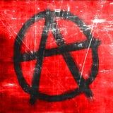 Segno di anarchia con i bordi approssimativi Fotografia Stock Libera da Diritti