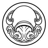 Segno di astrologia dello zodiaco dell'oroscopo di acquario illustrazione di stock