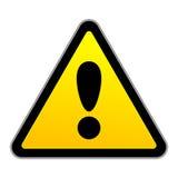Segno di attenzione di traffico di vettore Fotografie Stock Libere da Diritti