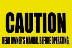 Segno di avvertenza Immagine Stock Libera da Diritti