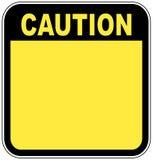 Segno di avvertenza Fotografie Stock Libere da Diritti