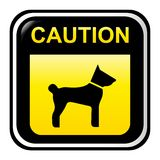 Segno di avvertenza - cane Fotografie Stock Libere da Diritti