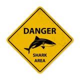 Segno di avvistamento dello squalo Immagine Stock