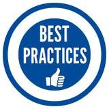Segno di best practice Immagini Stock