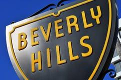 Segno di Beverly Hills Fotografie Stock Libere da Diritti