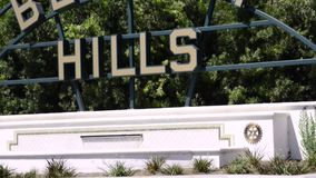 Segno di Beverly Hills stock footage