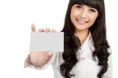 Segno di bianco o del biglietto da visita Fotografie Stock
