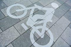Segno di Bikecycle Fotografia Stock Libera da Diritti