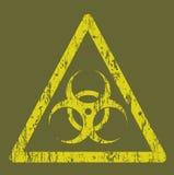 Segnale di rischio biologico illustrazione di stock