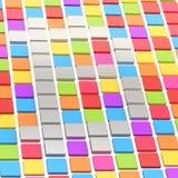 Segno di Bitcoin fatto delle mattonelle quadrate Fotografia Stock