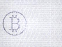 Segno di Bitcoin Fondo finanziario astratto con il segno del bitcoin Moneta fisica del pezzo Valuta di Digital Cryptocurrency illustrazione di stock