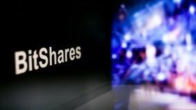 Segno di BitShares Cryptocurrency comportamento degli scambi di cryptocurrency, concetto Tecnologie finanziarie moderne illustrazione vettoriale