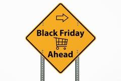 Segno di Black Friday su fondo bianco Fotografie Stock