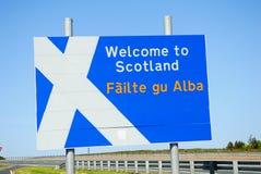 Segno di bordo scozzese. fotografie stock