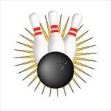 Segno di bowling Fotografie Stock