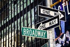 Segno di Broadway Fotografie Stock