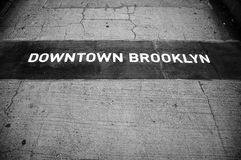 Segno di Brooklyn Fotografie Stock