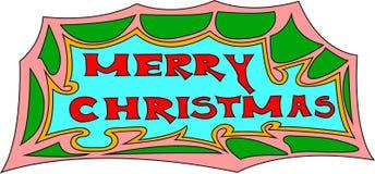 Segno di Buon Natale Immagini Stock