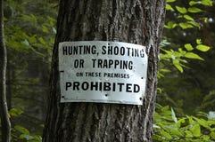 Segno di caccia Fotografia Stock Libera da Diritti