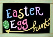 Segno di caccia dell'uovo di Pasqua Fotografia Stock