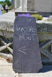 Segno di caccia di tesoro Immagine Stock Libera da Diritti