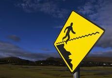 Segno di caduta dell'uomo Fotografia Stock Libera da Diritti
