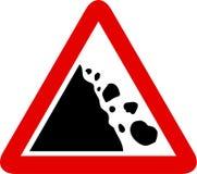 Segno di caduta delle rocce royalty illustrazione gratis