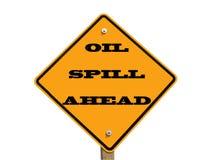 Segno di caduta di olio avanti Fotografia Stock Libera da Diritti