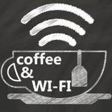 Segno di caffè Fotografia Stock