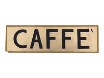 Segno di Caffe Fotografia Stock Libera da Diritti