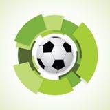 Segno di calcio. Pallone da calcio. Immagine Stock