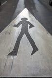 Segno di camminata Immagine Stock Libera da Diritti
