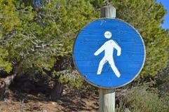 Segno di camminata Fotografia Stock Libera da Diritti