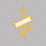 Segno di colpo di fulmine su fondo tranparent Segno del supereroe di vettore Icona istantanea Icona piana di vettore di colore di illustrazione vettoriale