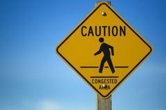 Segno di congestione Immagini Stock Libere da Diritti