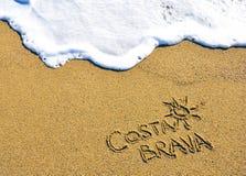 Segno di Costa Brava, Spagna Fotografia Stock Libera da Diritti