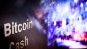 Segno di Cryptocurrency dei contanti di Bitcoin comportamento degli scambi di cryptocurrency, concetto Tecnologie finanziarie mod illustrazione vettoriale