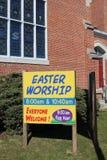 Segno di culto di Pasqua immagini stock