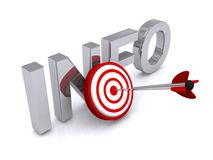 segno di 3d Info Fotografie Stock Libere da Diritti