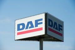 Segno di DAF Immagine Stock Libera da Diritti