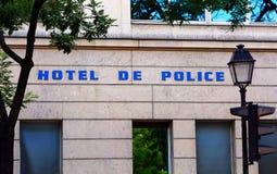 Segno di de police dell'hotel Fotografie Stock Libere da Diritti
