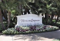 Segno di Del Coronado dell'hotel fotografia stock libera da diritti
